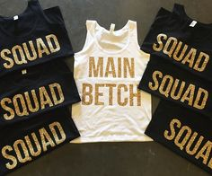 Throw a bachelorette party for the ages by having your whole squad wear these cute bachelorette party shirts.They're completely customizable, so you and your best betches can paint the whole town red before the big day.