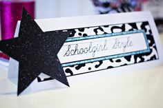 Name plate- Rock Star theme.  I LOVE SchholGirl Style (a Michigan girl!)