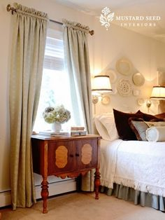 Love this room mostly shades of gray, greenish blue, cream, white and some brown. It's a very restful, soft pallet by C@rol