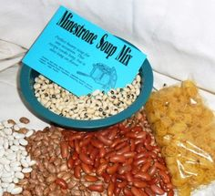Minestrone Soup Mix, Gourmet Soup at home, dry mix - pinned by pin4etsy.com