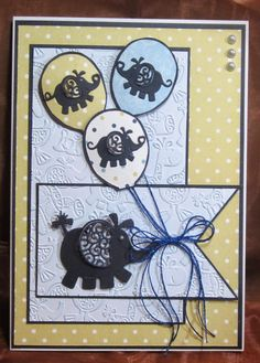 Tattered Lace Dies: Ellie with balloons by Brenda Baby Boy Cards, New Baby Cards, Tattered Lace Cards, Shower Bebe, Kids Birthday Cards, Congratulations Card, Baby Crafts, Handmade Baby, Kids Cards