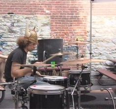 Viking Ray on drums - Life on the Murder Scene :)