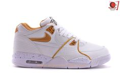 reputable site 7e67b e3b49 306252-115 Nike Air Flight 89 White Gold Leather For Sale Cheap Nike Kyrie