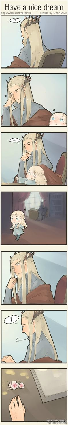 Thranduil and Legolas | Have a nice dream by NekoMiko || HAVE YOU SEEN THESE!???!? THEY'RE SOOO CUTE OMG