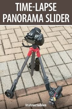 Make a time-lapse panorama slider out of camera tripod. #Instructables #photography #technology #electronics Little App, Camera Tripod, Stepper Motor, Photography Projects, Arduino, Sliders, Outdoor Power Equipment, 3d Printing, Technology