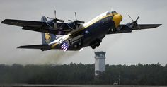 Blue Angels (2002-Pesent) USMC Lockheed C-130T Hercules (Fat Albert) Support Aircraft - Conducting a Rocket Assisted Take Off.