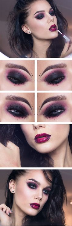 Inspiring look by the gorgeous & talented Linda Hallberg using Makeup Geek's Razzleberry eyeshadow. Be sure to check out her blog for other creative and inspiring looks!