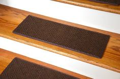 Dean Indoor/Outdoor Pet Friendly Tape Free Non-Slip Carpet Stair Step Treads - Contour Brown 23 x 8 (15)  Price : $199.99 http://www.deanstairtreads.com/Dean-Indoor-Outdoor-Friendly-Non-Slip/dp/B00KRP3I0C