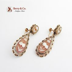 Berry Jewelry Floral Dangle Earrings CAI6LqV