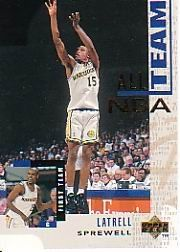 1994-95 Upper Deck 15 Latrell Sprewell All NBA Team >>> Check out this great product.