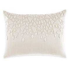 Catherine Malandrino Optic Cascade Oblong Throw Pillow in Ivory