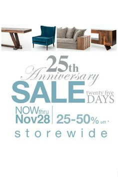 Happy Thanksgiving from Artesanos Design Collection! Friday November 27th is our Black Friday Sale combined with our 25th Anniversary Sale! Enjoy 25% off everything storewide use code: SILVER25. Save 30% on all orders over $5k use code: SILVER30 and save 35% on all orders over $10K use code: SILVER35