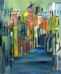Buy Lane in Freiburg, Oil painting by Ingrid Knaus on Artfinder. Discover thousands of other original paintings, prints, sculptures and photography from independent artists.