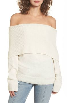 c806119bee MOON RIVER Off the Shoulder Sweater