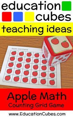 Make learning fun by using Education Cubes, customizable learning blocks for all your educational needs! See these fun apple counting & color matching games!