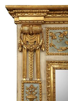 Italian 18th Century Louis XVI Period Patinated and Giltwood Trumeau 9