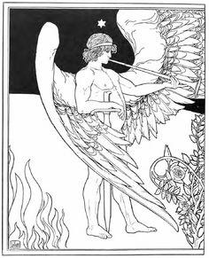 Ephraim Moses Lilien, Angel, E.M. Lilien; ein Beitrag zur Geschichte der zeichnenden Kuenste, 1905.
