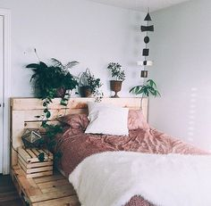I would Like To raise the bed just a smudge. Wooden headboard would lighten up bed.