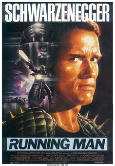 The Running Man...a much better book than movie, by Steven King writing as Richard Bachman; the story is very different