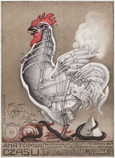"Franciszek Starowieyski. Anatomia Czasu. 1978. Offset lithograph. 36 3/8 x 28 1/4"" (92.5 x 71.8 cm). Gift of the designer. 444.1985. Architecture and Design"