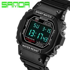 6e669fef7c8 SANDA Digital Wrist watch Ladies Watches