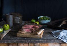Flank Steak with Green Tomato Salsa