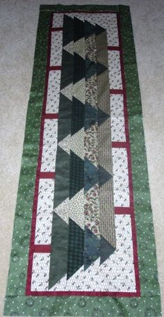 YOU ARE BUYING ONE PATTERN FOR A Christmas Tree TABLE RUNNER. THE PATTERN CONTAINS ALL THE INSTRUCTIONS NEEDED TO MAKE THE TABLE RUNNER SHOWN. THE TABLE RUNNER MEASURES--17 by 56 inches. NO FABRIC or kit or runner IS INCLUDED-- JUST THE PATTERN. THIS WAS PART OF A TABLE RUNNER OF