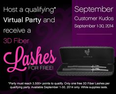 Earn FREE 3D Fiber Lash Mascara ON TOP OF Free Products and Half-off items when you host a qualifying virtual party. 100% online and I do all the work!!! Pinterest friends, you can now message me!
