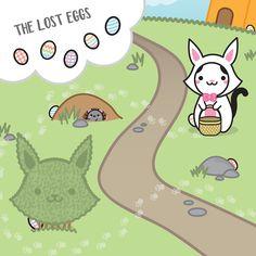 Now it's time for the Egg Hunt! There's 5 hidden eggs in the picture, can you find them??  –  Agora é hora da brincadeira! Deixamos 5 ovinhos escondidos na imagem! Você consegue encontrá-los??
