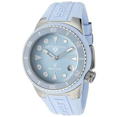 Swiss Legend Neptune (40 mm) Light Blue Silicone Light Blue Dial (929.955 IDR) ❤ liked on Polyvore