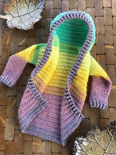 Painted Canyon Cardigan in Child Size Controlling Colors