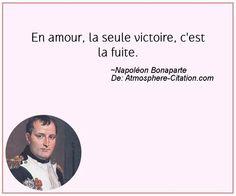 En amour, la seule victoire, c'est la fuite.  Trouvez encore plus de citations et de dictons sur: http://www.atmosphere-citation.com/populaires/en-amour-la-seule-victoire-cest-la-fuite.html?