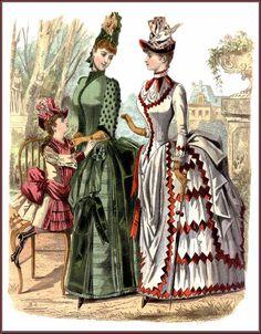 Dame con la seconda tournure, 1885. La nuova tournure permetteva di sedersi senza inconvenienti- Wikipedia