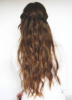 Cheveux long : 15 So-Pretty Hairstyles for Long Hair Braided Hairstyles Tutorials, Messy Hairstyles, Pretty Hairstyles, Braid Tutorials, Famous Hairstyles, Natural Hairstyles, Wedding Hairstyles, Layered Hairstyles, Style Hairstyle