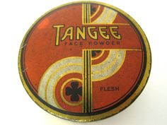 vintage 1930s Tangee face powder tin FREE US SHIPPING by fuschiafoot, $12.99