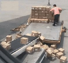 Chinese airport worker could not be worse at his job…