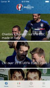 UEFA EURO 2016: lapplicazione ufficiale della competizione europea