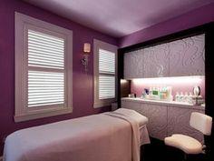 Gorgeous purple spa room