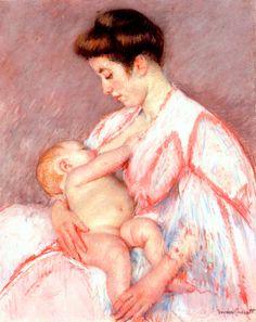 Mary Cassatt, 1910. Baby John Being Nursed. #breastfeeding #bfcafe #art