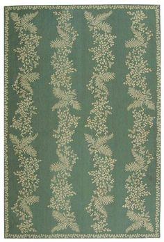 RugStudio presents Martha Stewart by Safavieh MSR2321A TARRAGON / GREEN Hand-Hooked Area Rug