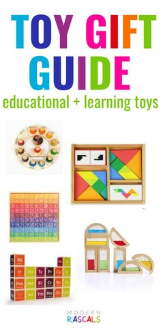 Modern Rascal's has such a great selection of toys. Not only are they fun but they are educational too! Our collection of learning toys encourage your child's curiosity, discovery, and creativity. Beautifully crafted, sustainable and organic toys in vibrant colors, provide developmental learning experiences and lots of open ended play for your children! Designed to be loved and handed down for generations to come! #sustainabletoys kidstoys #organictoys #openendedplay #woodtoys #learningtoys Grimm's Toys, Baby Toys, Kids Toys, Christmas Gifts For Kids, Holiday Fun, Abc Games, Montessori Toys, Educational Games, Creative Play