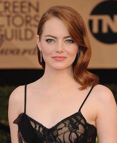 La mise en beauté d'Emma Stone aux Screen Actors Guild Awards