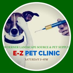 E-Z #Pet Clinic Will Be At #Woerner #Landscape #Pensacola Saturday Nov 21st from 3-4pm