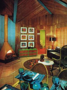 Vacation house living room, 1967
