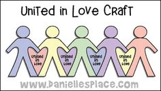 United in Love Paper Doll Bible Craft