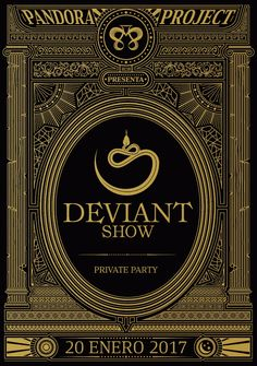 Naming, concept and identity for deviant show, exclusive party in barcelona #bcpbcn