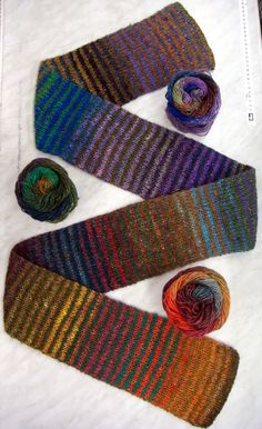 Will's Wools: Noro Brookyn Tweed sjaal/scarf.