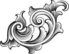 Vector Vintage Baroque Border Scroll Design Stock Vector