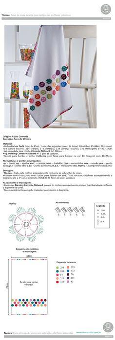 Armarinho São José, Aviamento, Tricô, Crochê, Barbante, Agulhas, linhas para Costura: Receita para Crochê