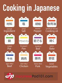 Learn Japanese - JapanesePod101.com — Cooking in Japanese PS: Start learning Japanese...